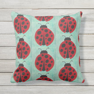 Lots of Ladybugs Throw Pillow