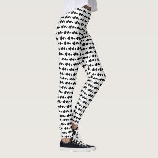 Lots of Love (Heart Pattern) (Black) Leggings