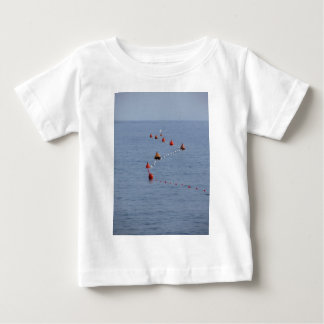 Lots of mooring buoys floating on water in marina baby T-Shirt
