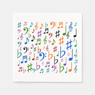 Lots of Musical Notes and Symbols Paper Napkin
