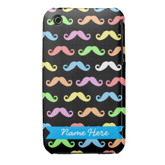 Lots of Mustaches iPhone case (customizable!)