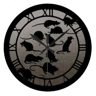 Lots Of Rats Large Clock