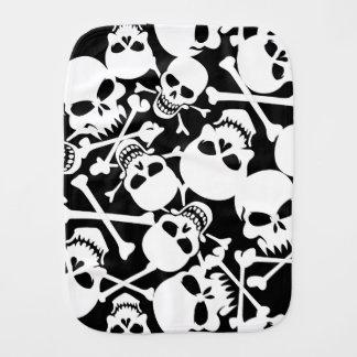Lots of skulls burp cloth