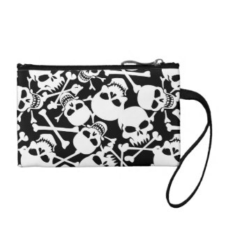 Lots of skulls coin purse