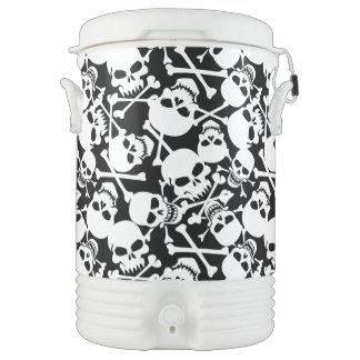 Lots of skulls drinks cooler