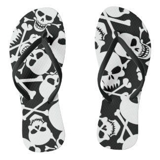 Lots of skulls flip flops