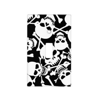 Lots of skulls light switch cover