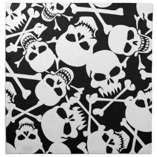 Lots of skulls napkin