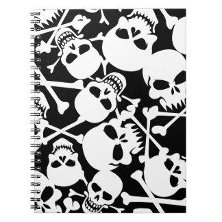 Lots of skulls notebook