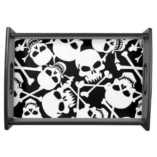 Lots of skulls serving tray