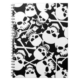 Lots of skulls spiral notebook
