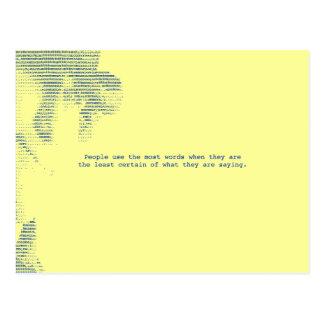 Lots of Words... Postcard