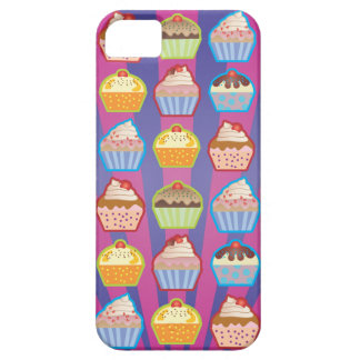 Lotsa Cupcakes Purply Blue Stripes iPhone 5 Case