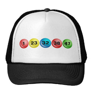 Lottery Balls, 1, 23, 32, 38, 47 Trucker Hat