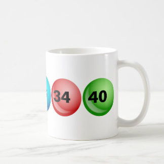 Lottery Balls, 3, 18, 23, 34, 40 Coffee Mug
