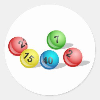 Lottery Balls Classic Round Sticker
