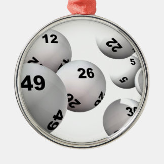 Lottery Balls Metal Ornament