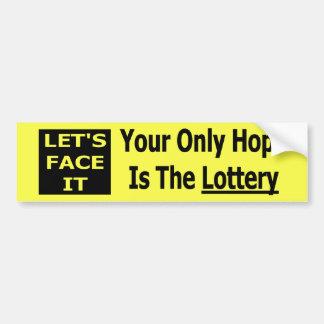 Lottery Bumper Sticker