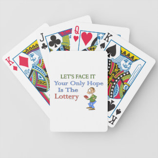 Lottery Humor Bicycle Playing Cards