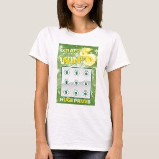 Lottery Instant Scratch Card T-Shirt