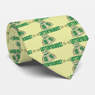 Lottery Player Winner Funny Lotteryologist Tie