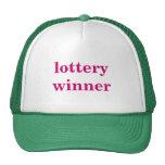 lottery winner mesh hats