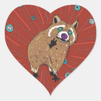 Lotti of the hippie heart sticker