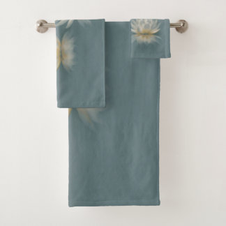 Lotus and Dragonfly Bathroom Towel Set