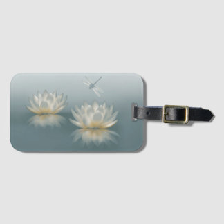 Lotus and Dragonfly Luggage Tag