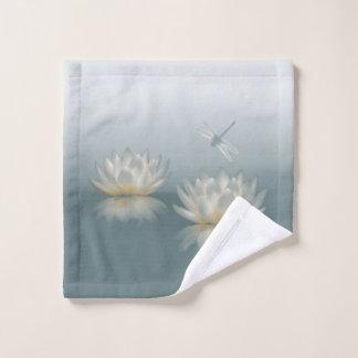 Lotus and Dragonfly Wash Cloth