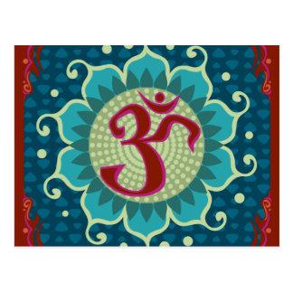 Lotus Aum - OM - Postcard