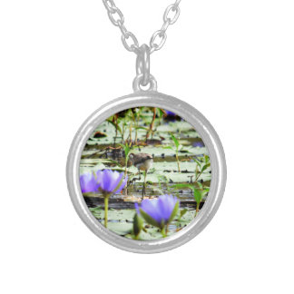 LOTUS BIRD RURAL QUEENSLAND AUSTRALIA SILVER PLATED NECKLACE