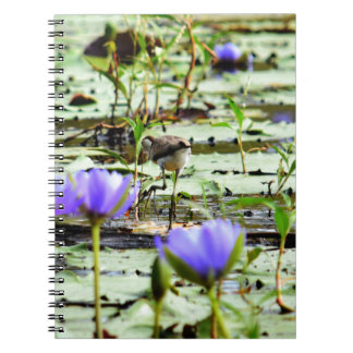LOTUS BIRD RURAL QUEENSLAND AUSTRALIA SPIRAL NOTEBOOK