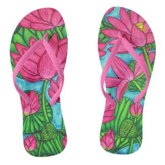 Lotus Bliss Flip Flops