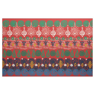 lotus block Christmas Fabric
