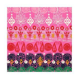 lotus block pink canvas print