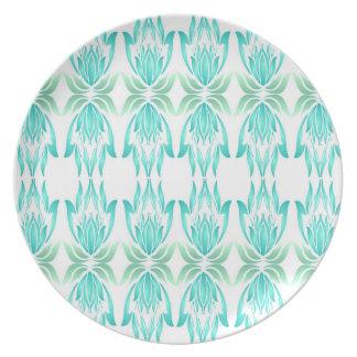 Lotus Block Zen Print Kitchen Melamine Plate