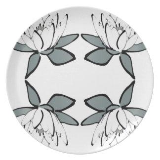 Lotus Block Zen Print Kitchen Melamine Plate 2