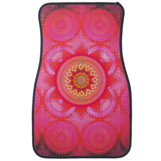 Lotus Bloom PInk Mandala ID130 Car Mat