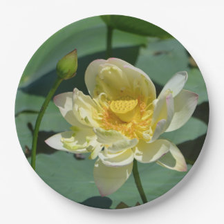 Lotus Blossom 9 Inch Paper Plate