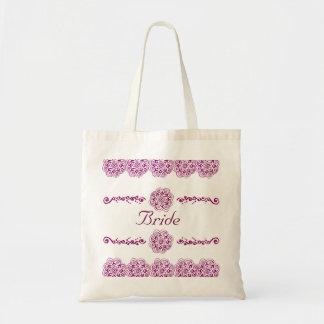 Lotus Blossom (Henna) (Pink) Tote Bag