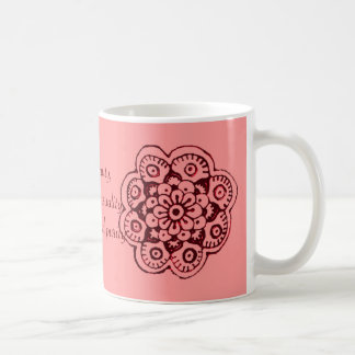 Lotus Blossom (Henna)(Red) Coffee Mug
