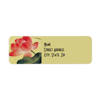Lotus Blossom Return Address Labels
