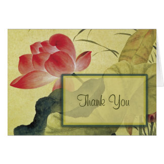 Lotus Blossom Thank You Blank Note Card