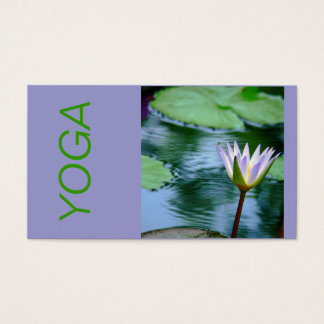 LOTUS BLOSSOM YOGA INSTRUCTION BUSINESS CARD (PHOT