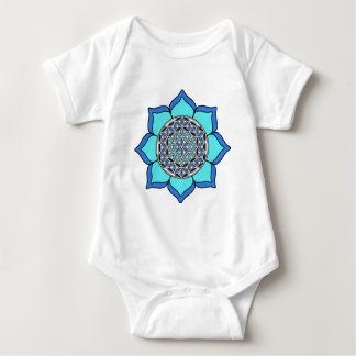Lotus Blue3 Baby Bodysuit