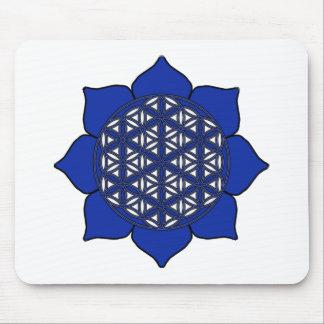 Lotus Blue8 Mouse Pad