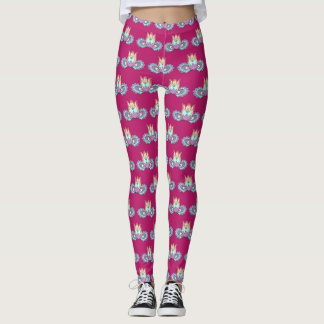 Lotus boho pattern vinous leggings