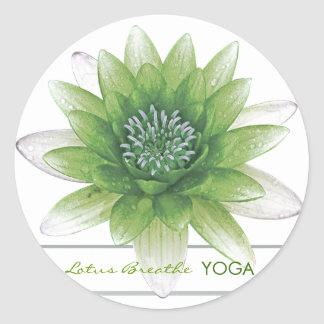 Lotus Breathe Round Sticker