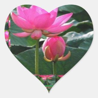 LOTUS : Chakra Rose Pink Green Garden Heart Sticker